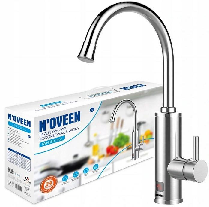 Проточний водонагрівач на стільницю Noveen IWH850 INOX