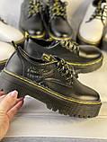 Туфли из натуральной кожи черного цвета, фото 6