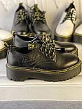 Туфли из натуральной кожи черного цвета, фото 8