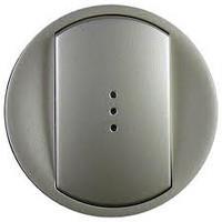 Celiane Лицьова панель вимикача/перемикача (з підсвіткою/індикацією) 1-клавішного Титан