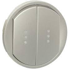 Celiane Лицьова панель вимикача/перемикача (з підсвіткою/індикацією) 2-клавішного Титан
