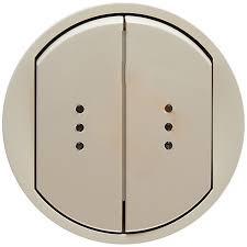 Celiane Лицьова панель вимикача/перемикача (для підсвітки/індикації) 2-клавішного Слонова кістка