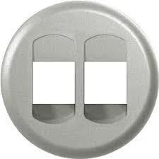 Celiane Лицьова панель розетки акустичної (для динамиків) подвійна Титан