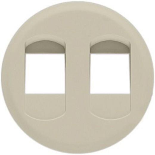 Celiane Лицьова панель розетки 2 x RJ45 кат.6 (для UTP/FTP/SFTP) Слонова кістка