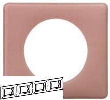 Рамка 4 пост Legrand Celiane - Розовая пудра