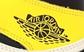Мужские кроссовки Nike Air Jordan 1 Retro (желто-черные с белым) 12434 повседневные демисезонные кроссы, фото 4