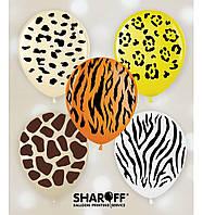 Воздушные шары Сафари, дикие животные, 50 штук (5 ст)