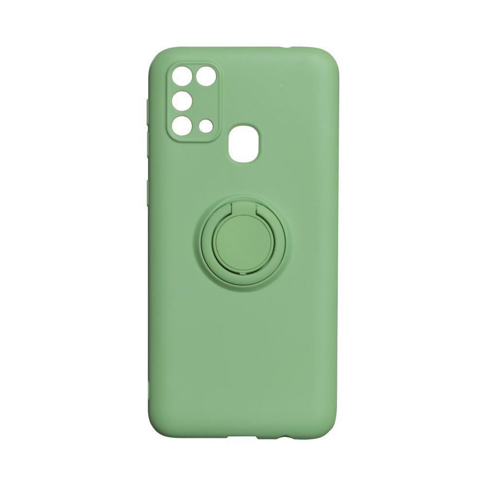 Чехол Ring Color for Samsung A21s Цвет Зелёный