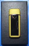 USB-зажигалка спиральная с сенсорной кнопкой S817 (золотистая), фото 2