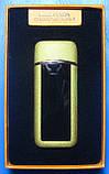 USB-зажигалка спиральная с сенсорной кнопкой S817 (золотистая), фото 3