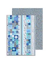 """Папір з малюнком """"Новорічний календар"""", А4(21x29,7см), двохсторонній, Срібна, 300г/м2, Heyd"""
