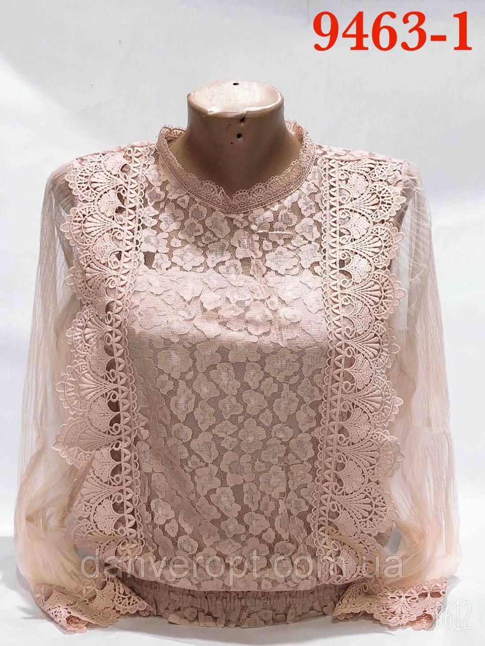 Блузка женская стильная нарядная размер универсальный 42-48 купить оптом со склада 7км Одесса