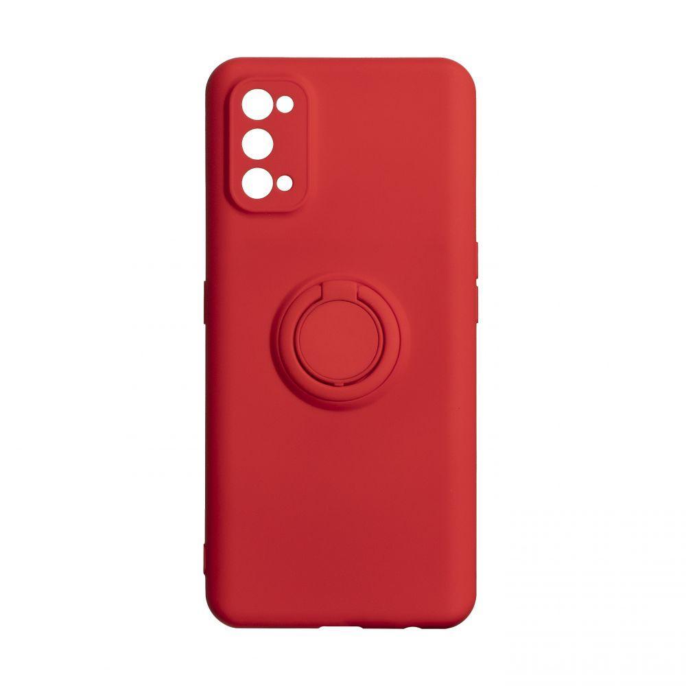 Чехол Ring Color для Realme 7 Pro Цвет Красный