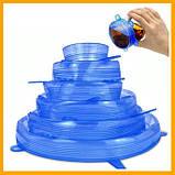Розширюються універсальні силіконові плівки-кришки Super stretch silicone lids №D06-33, фото 5