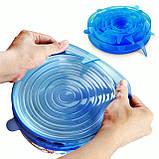 Розширюються універсальні силіконові плівки-кришки Super stretch silicone lids №D06-33, фото 7