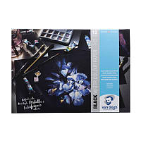 Склейка-блок Royal Talens Van Gogh 29,7x42см 360г/м2 для акварели 12л 100% целлюлоза черная бумага