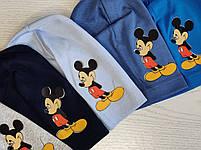 Трикотажная шапка для мальчика с Микимаус Размер 48-52 см Возраст 3-7 лет, фото 2