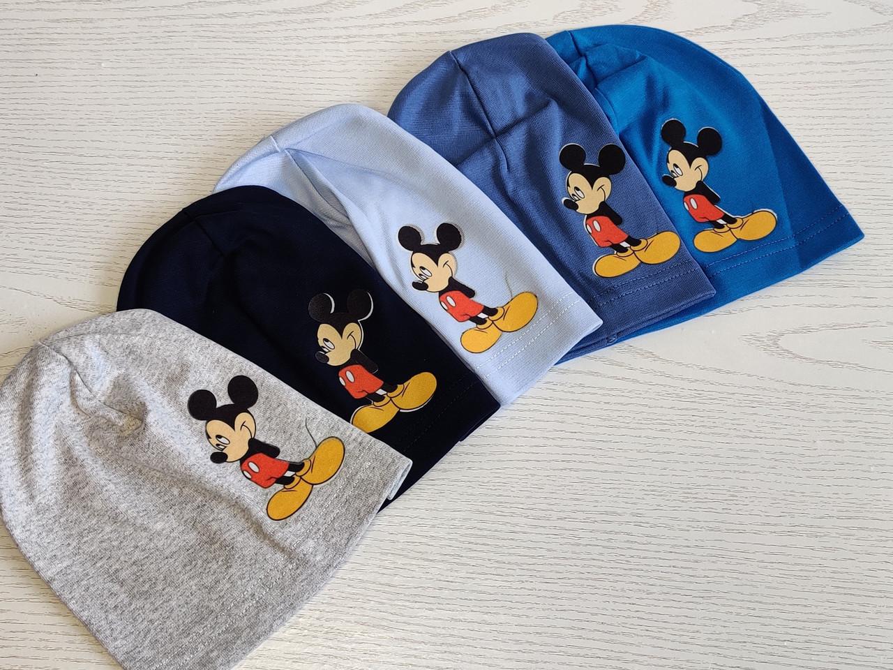 Трикотажная шапка для мальчика с Микимаус Размер 48-52 см Возраст 3-7 лет