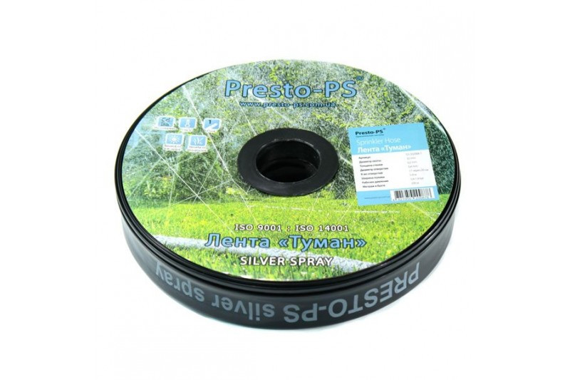 Лента для полива Presto-PS Туман 40x0.3 100 м ширина полива 8 м