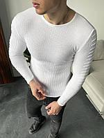 Джемпер чоловічий светр бордовий стильний