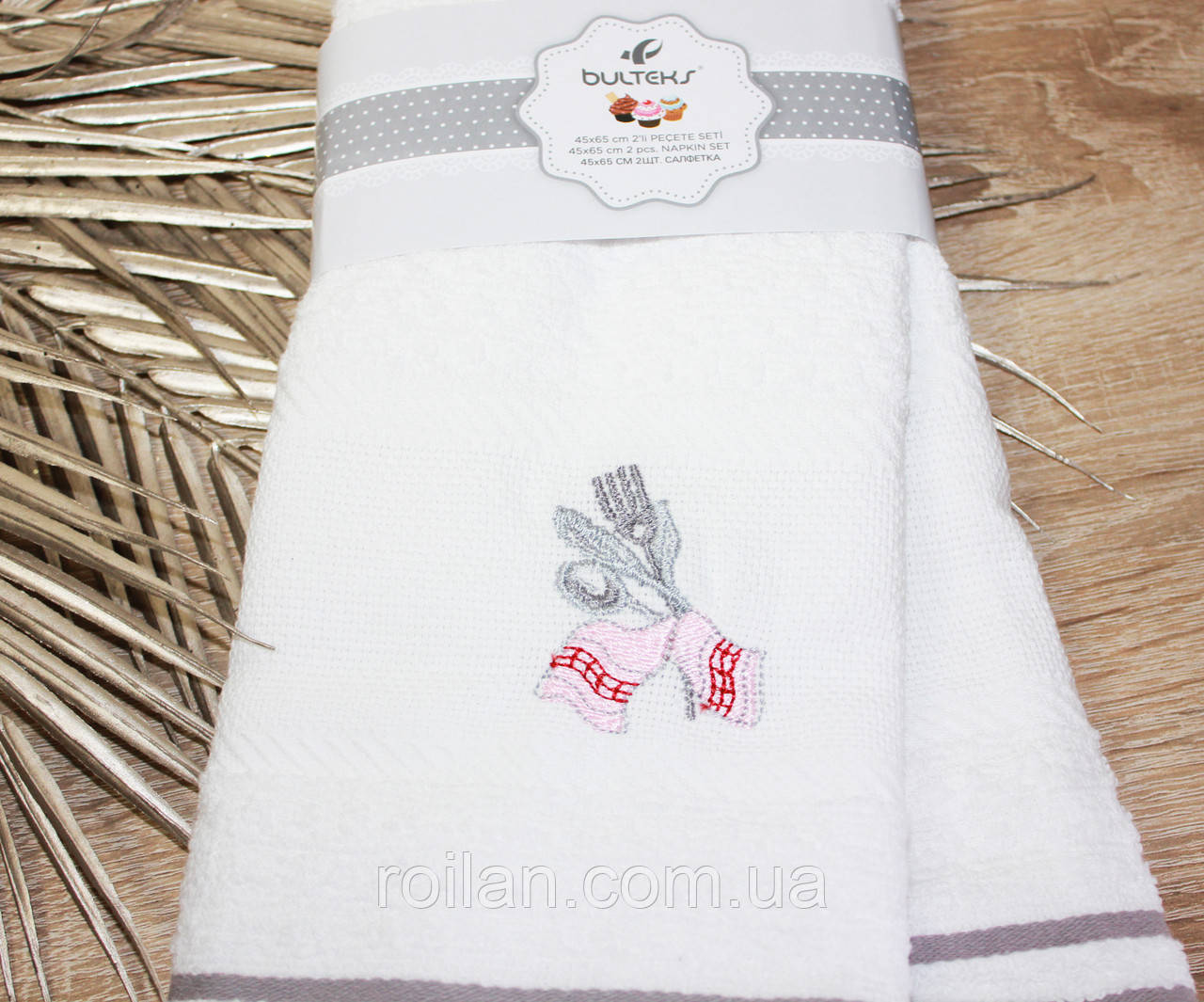 Набор турецких кухонных полотенец  Ложка-Виделка
