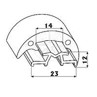 Основание (профиль) привального бруса 30 мм, 2 м, чёрное Tessilmare