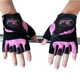 Екіпіровка Рукавички жіночі Olimp Hardcore Fitness Star, рожеві L