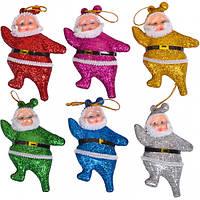 """От 5 шт. Набор-украшение """"Дед Мороз"""" цветной 8 см 6шт.12-135/17F055 купить оптом в интернет магазине От 5 шт."""