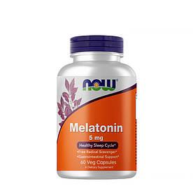 Відновник NOW Melatonin 5 mg, 60 вегакапсул
