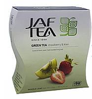 Чай зелений з ароматом полуниці та ківі Jaf Tea strawberry & kiwi 100 г