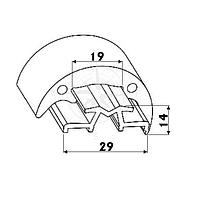 Основание (профиль) привального бруса 40 мм, 2 м, чёрное Tessilmare