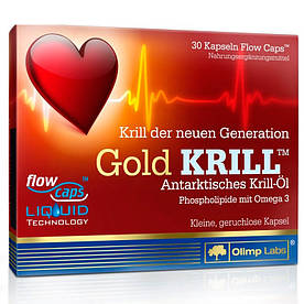 Жирные кислоты Olimp Gold Krill, 30 капсул