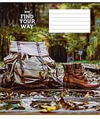 Тетрадь 24 л линия Школярик Find your way 2861