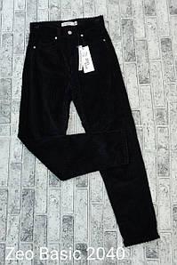 Вельветовые стильные джинсы мом Zeo Basic 2040 (34-40)