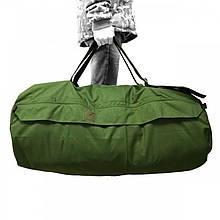 Транспортировочный баул олива на 110 литров  сумка-рюкзак