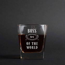 """Стакан для виски """"Boss №1 of the world"""""""