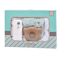 Набор в кроватку для младенцев: одеяло 100х135, бамбуковый наматрасник 60х120 и подушка