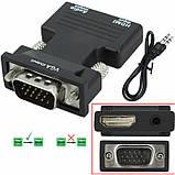 Конвертер с HDMI на VGA OUT Black (6737), фото 3