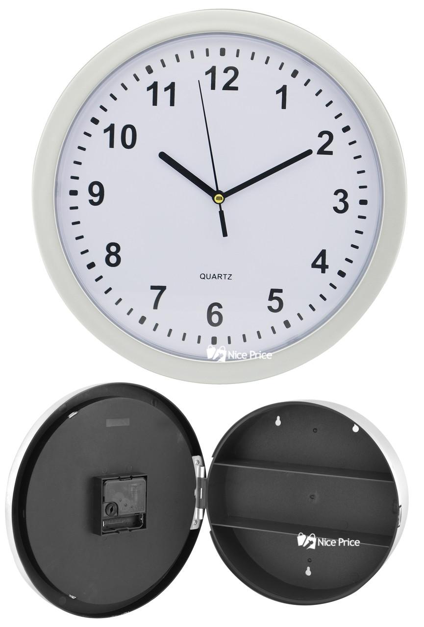 Настенные пластиковые часы-тайник-сейф SAFE CLOCK (7031)