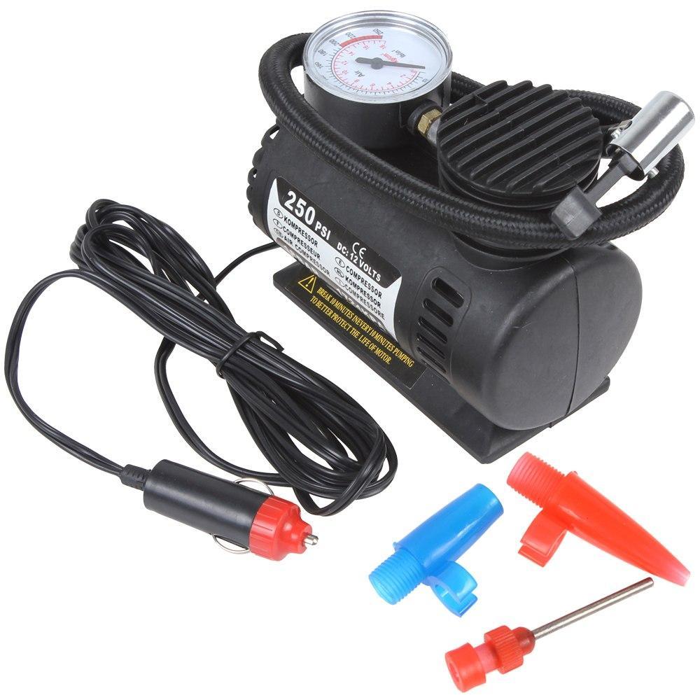 Автомобільний компресор 250 psi 10-12Amp 25л + насадки