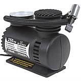 Автомобільний компресор 250 psi 10-12Amp 25л + насадки, фото 4