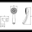 Душевой набор Invena Mini Esla AU-94-M01 хром, фото 2