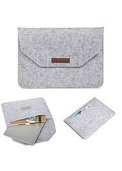 Фетровый чехол-конверт для MacBook 15 ARM защитный Серый, КОД: 1841279