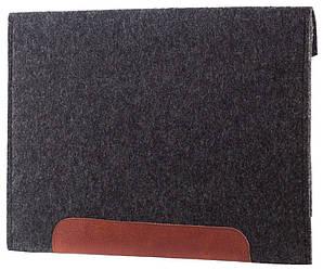 Фетровый чехол-конверт Gmakin для Macbook Retina 12 2015-2019 Черный GM11-12, КОД: 1841885