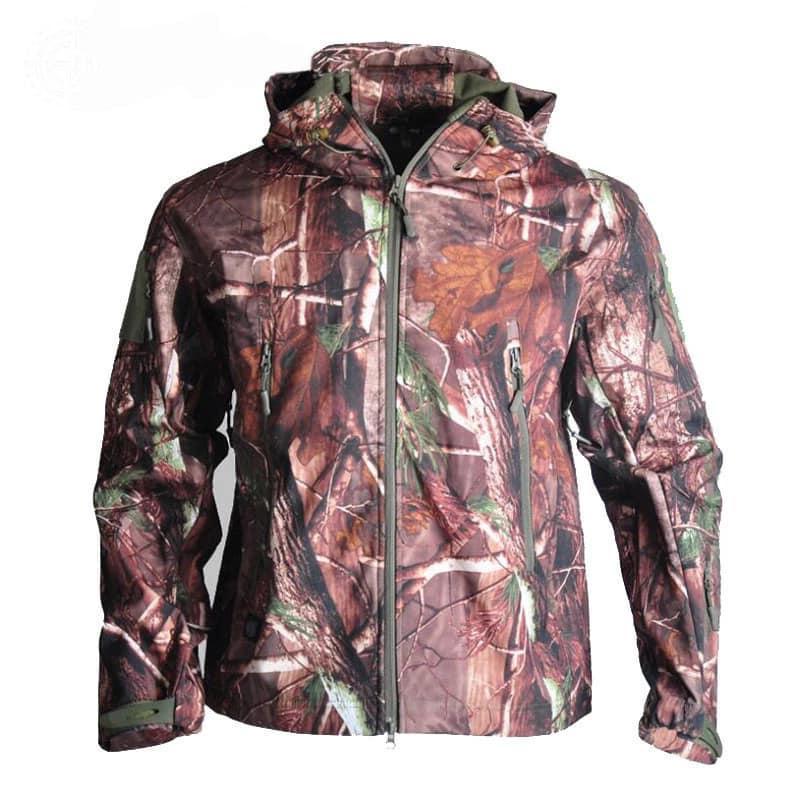 Куртка водозащитная софтшел реплика ESDY Travel в расцветке лес