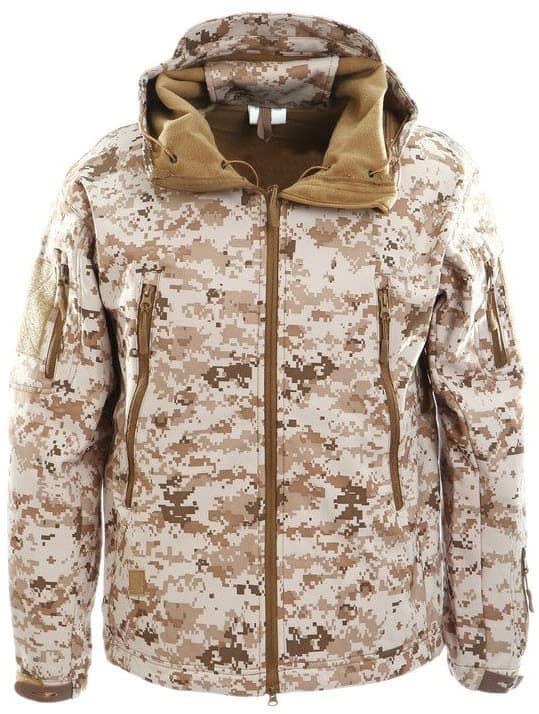 Тактична куртка софтшел репліка ESDY Travel в кольорі ліс