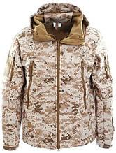 Куртка водозащитная софтшел реплика ESDY Travel в расцветке песочный пиксель