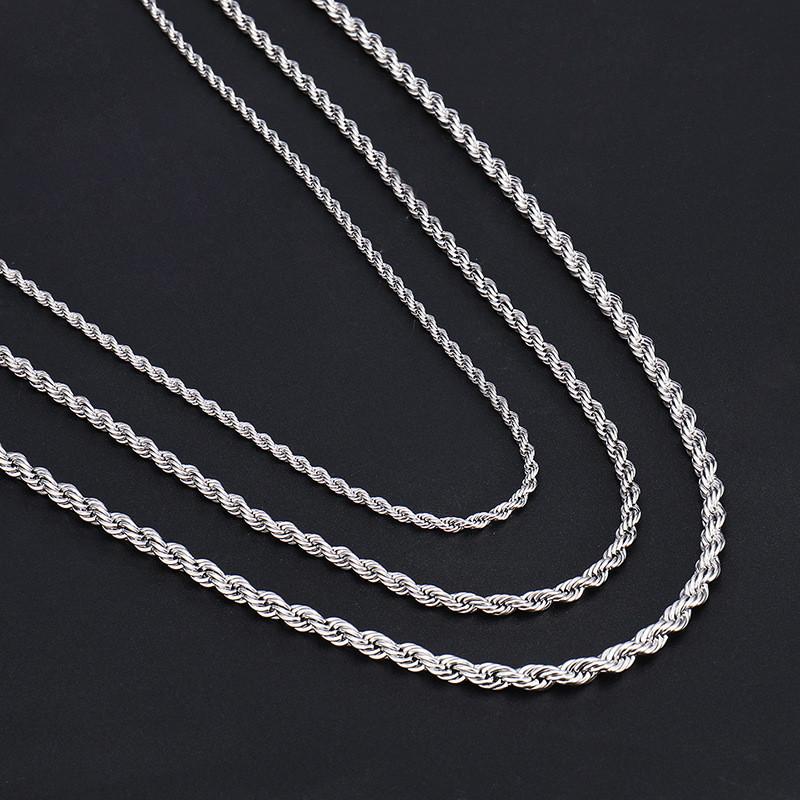 Длинная серебряная цепочка канат цепь подвеска мужская женская унисекс на шею