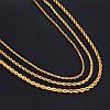 Длинная серебряная цепочка канат цепь подвеска мужская женская унисекс на шею, фото 5