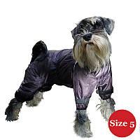 Комбинезон для собак DIEGO Rain F фиолетовый для девочек Размер 5 DRF51
